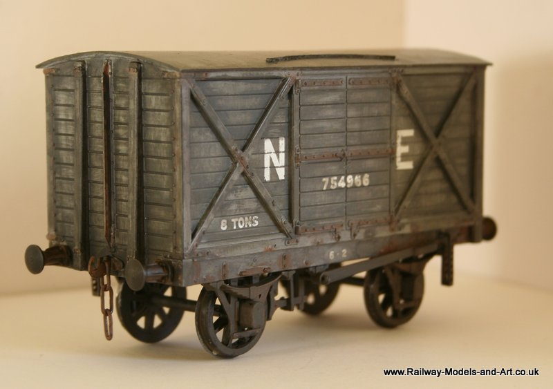 Weathered Parkside NBR-LNER 8 Ton Van