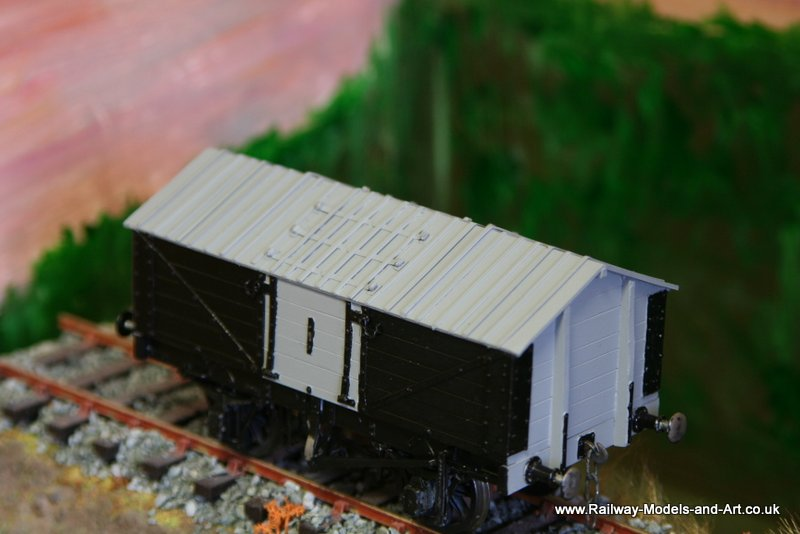 Scratch Built PO Lime Wagon in 7mm scale