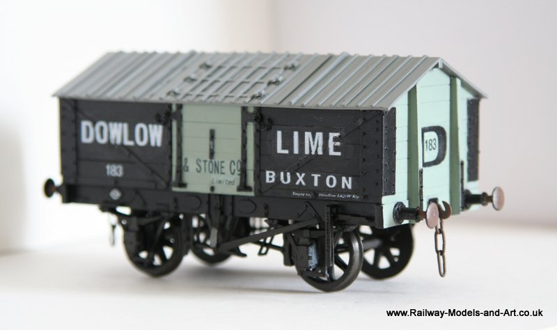 Scratch Built Lime Wagon