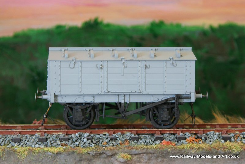 Midland-WD Locker wagon - painted and ready for transfers.