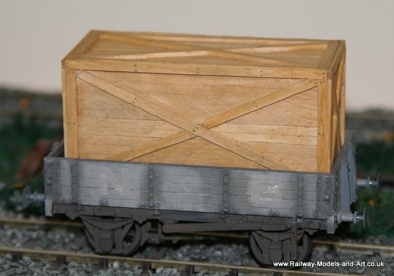 Scratch Built NBR 4 Plank Dropside wagon with assorted scratch built timber loads