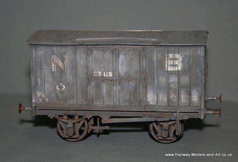 NBR-LNER 8 Ton Jubilee Vans - weathered