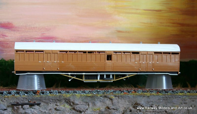 Upgraded Kirk 51 Foot Bogie Brake Van