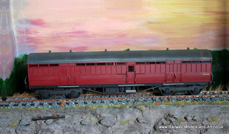 7mm Scale Kirk 51ft Parcels van in BR Crimson