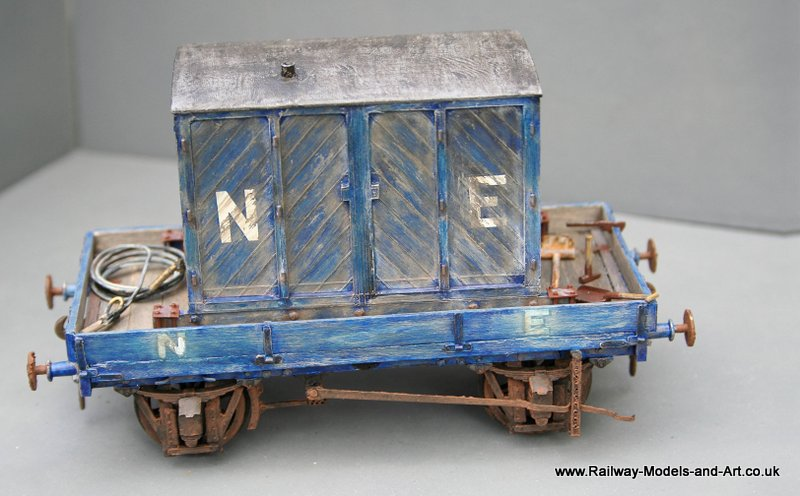 7mm Scale scratch built ex GNSR Vacuum Cleaner Wagon