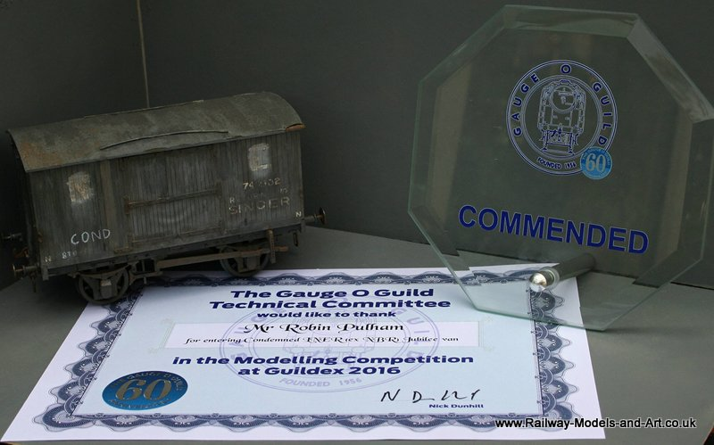LNER Condemned Van GOG Modelling Competition 2016 Comended (1/3rd place)