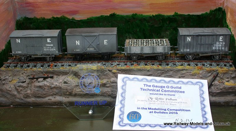 LNER ex NBR Scratch built goods wagons GOG Modelling Competition 2016 Runner Up (2nd place)
