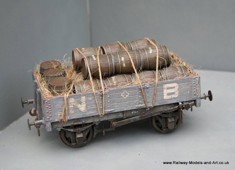 NBR 4 plank Wagon with Barrel load