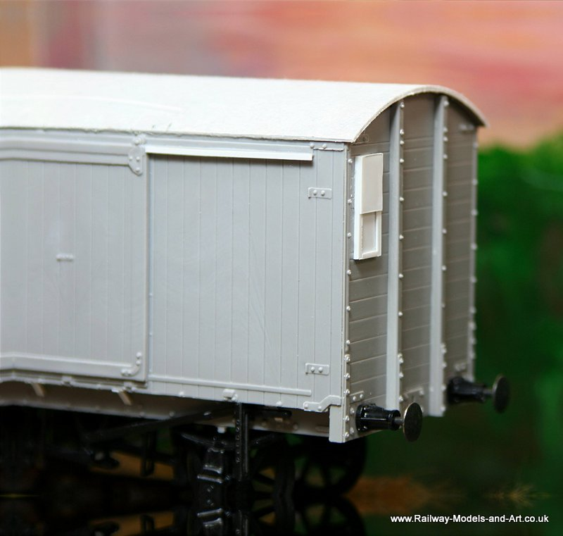 Parksdie LNER van with scratch built outside sliding vent