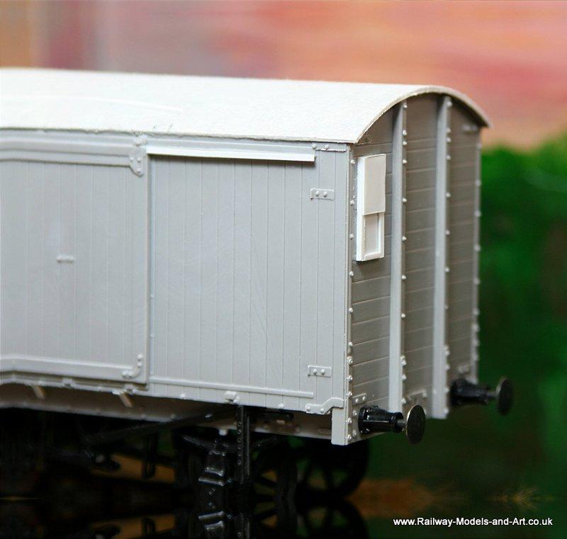 Parksdie LNER van with scratch built outside sliding vent